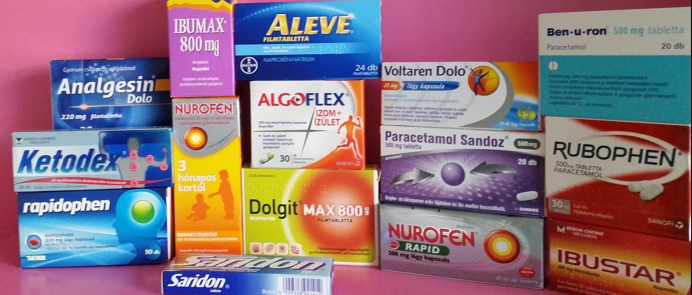 gyógyszerek ízületi fájdalom lista