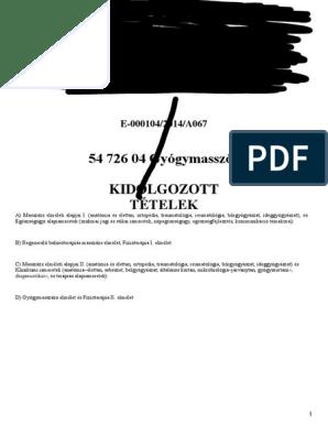 Dr. Gáspár Szabolcs - Budapesti Mozgásszervi Magánrendelő