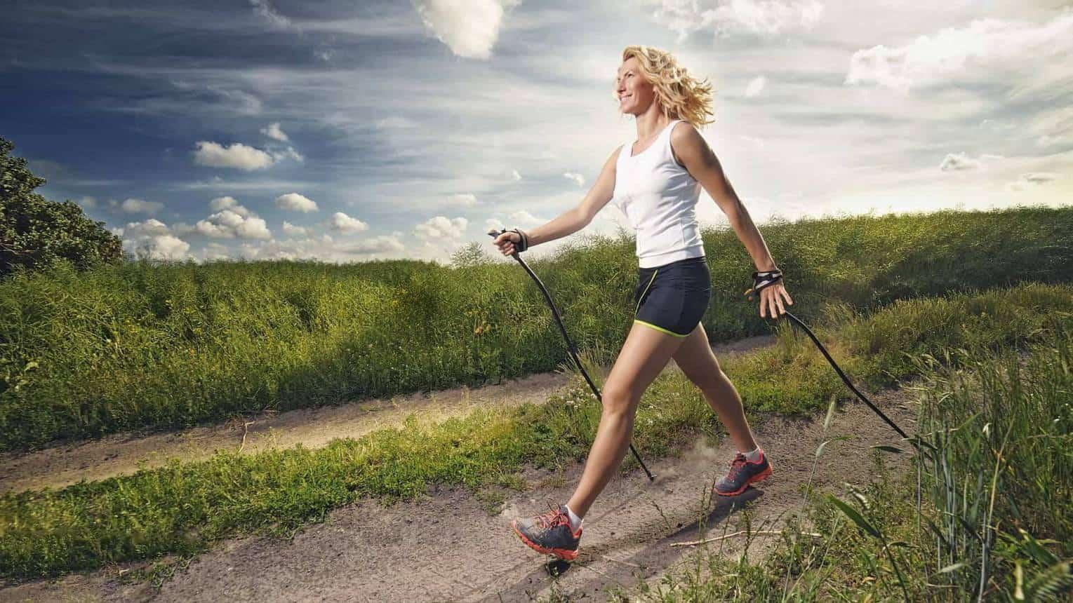 a nordic walking térd artrózisával