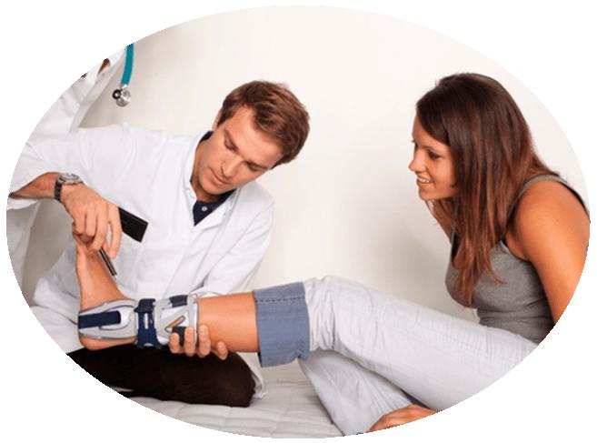 a lábízület károsodása