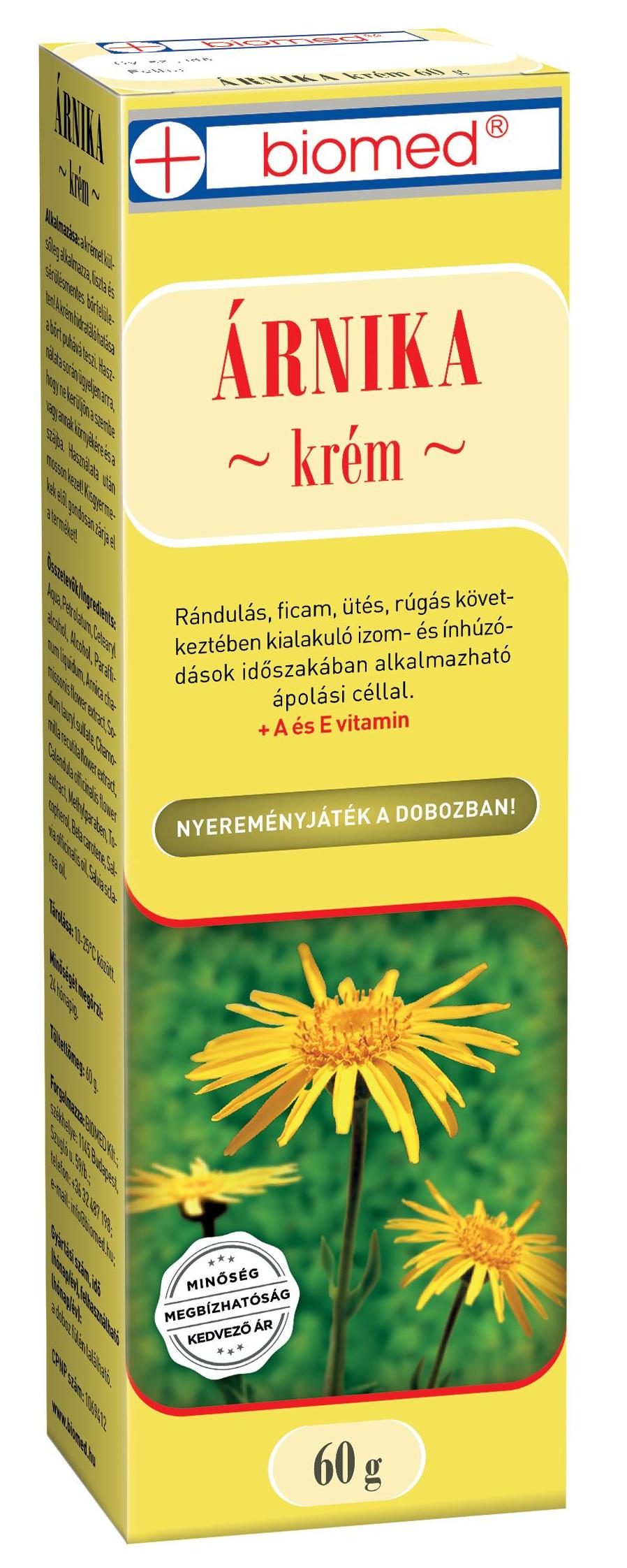 krém balzsam arnica ízületek artroplasztikájához)