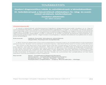 metacarpophalangealis sérülések