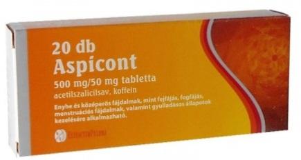 együttes kezelés tablettákkal