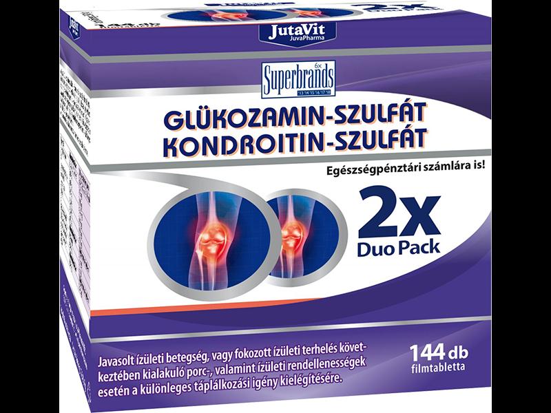 aktív adalékanyagok kondroitin és glükózamin mellett)